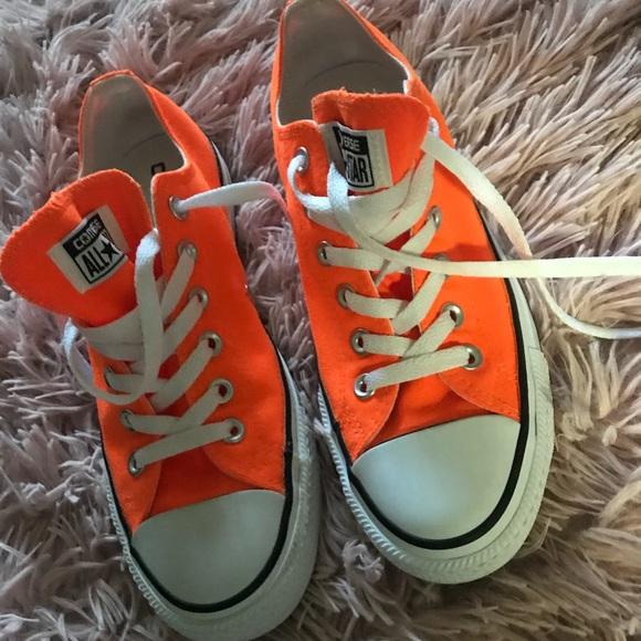 Converse Shoes | Neon Orange Chuck
